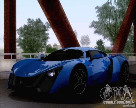 Marussia B2 2010 para GTA San Andreas vista traseira
