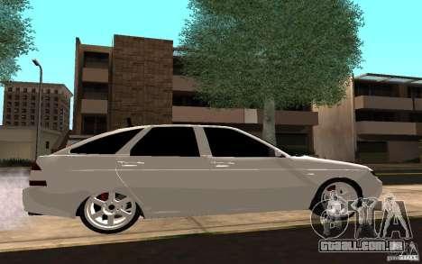 LADA PRIORA van tuning para GTA San Andreas vista interior