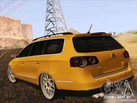 Volkswagen Passat B6 Variant para vista lateral GTA San Andreas