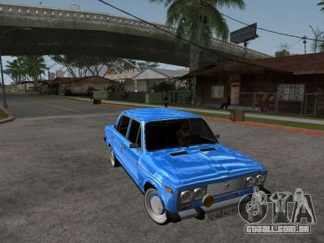 VAZ 2106 retrô V2 para GTA San Andreas vista interior