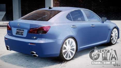 Lexus IS F para GTA 4 vista inferior