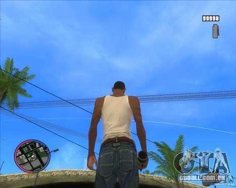 HD de Granada de fumaça para GTA San Andreas terceira tela