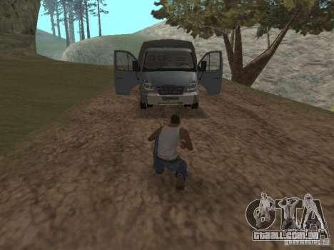 GÁS-3310 Valdai para GTA San Andreas vista traseira