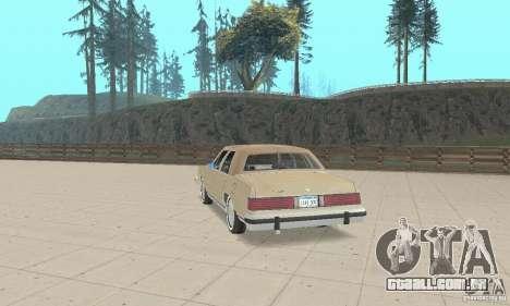 Mercury Grand Marquis LS 1986 para GTA San Andreas esquerda vista