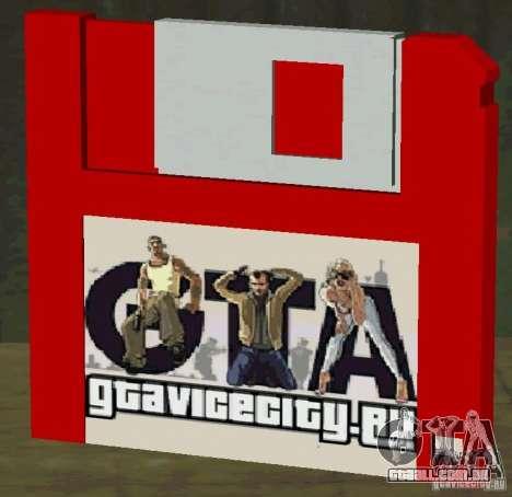 Novo HD disquete salvar para GTA San Andreas