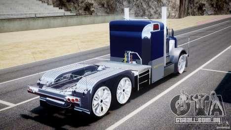 Peterbilt Truck Custom para GTA 4 traseira esquerda vista