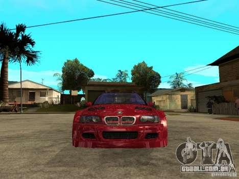 BMW M3 GTR Le Mans para GTA San Andreas vista direita