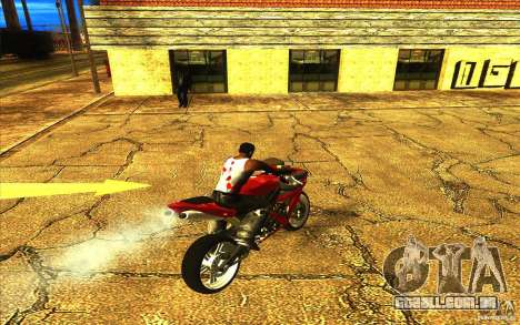Yamaha YZF R1 Tuning Version para GTA San Andreas vista inferior