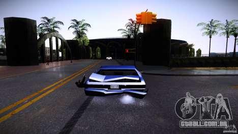Os peões se agarram à auto para GTA San Andreas por diante tela