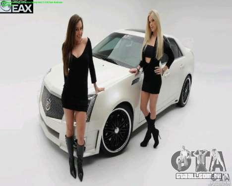 Telas de carregamento e carro meninas para GTA San Andreas