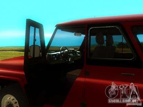 UAZ 315148 para GTA San Andreas vista traseira