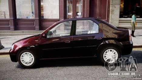 Dacia Logan 2007 Prestige 1.6 para GTA 4 traseira esquerda vista