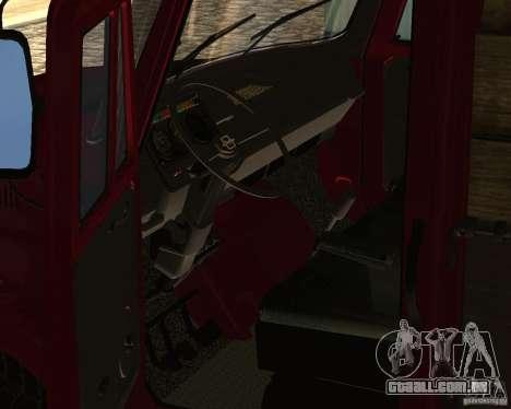 ZIL 433362 para GTA San Andreas vista interior