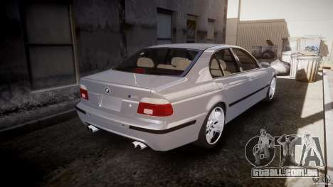 BMW M5 E39 Stock 2003 v3.0 para GTA 4 vista superior