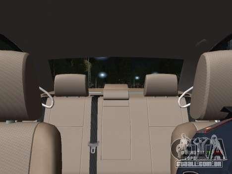 Toyota Avensis DPS para GTA San Andreas vista superior
