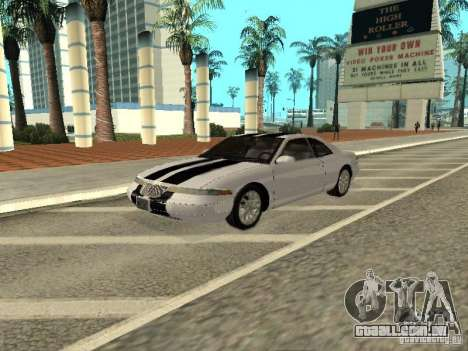 Lincoln Mark VIII 1996 para GTA San Andreas vista superior