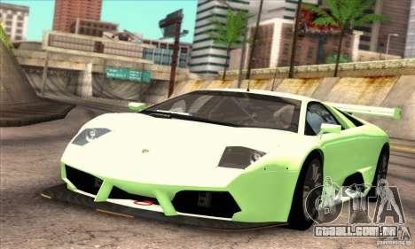 Lamborghini Murcielago R-SV GT1 para vista lateral GTA San Andreas