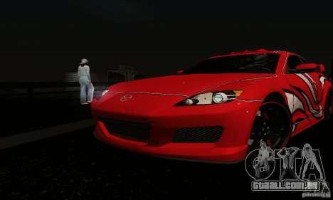 Mazda RX-8 Tuneable para GTA San Andreas vista superior