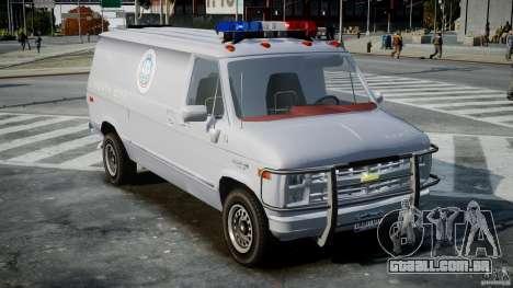Chevrolet G20 Police Van [ELS] para GTA 4 vista direita