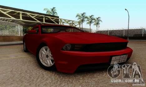 Ford Mustang 2010 para GTA San Andreas vista traseira