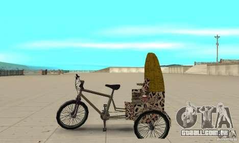 Manual Rickshaw v2 Skin4 para GTA San Andreas esquerda vista