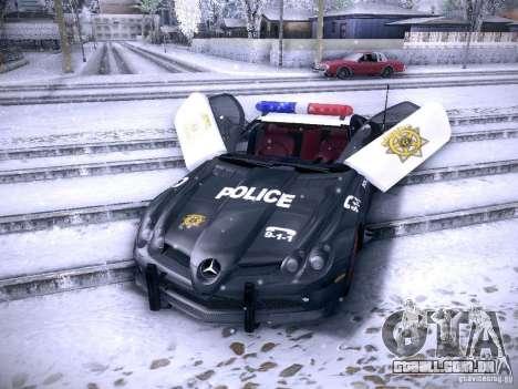 Mercedes-Benz SRL 722 Police para GTA San Andreas vista direita