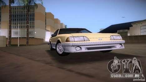 Ford Mustang GT 1993 para GTA Vice City vista direita