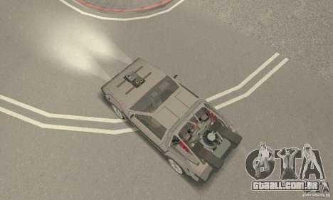 DeLorean DMC-12 (BTTF3) para GTA San Andreas traseira esquerda vista