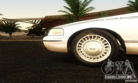 Ford Crown Victoria Ohio Police para GTA San Andreas vista direita