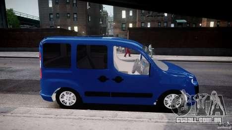 Fiat Doblo 1.9 2009 para GTA 4 vista de volta