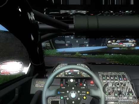 BMW M3 GTR1 para GTA San Andreas vista traseira