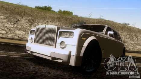 Rolls Royce Phantom Hamann para GTA San Andreas vista direita