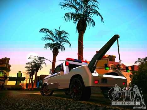 Towtruck tuned para GTA San Andreas traseira esquerda vista