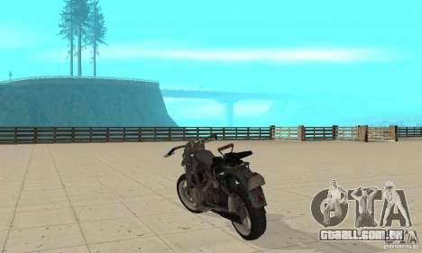 Bike Wolfenstein para GTA San Andreas traseira esquerda vista