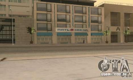 Cinco estrelas e reposição parte serviço para GTA San Andreas