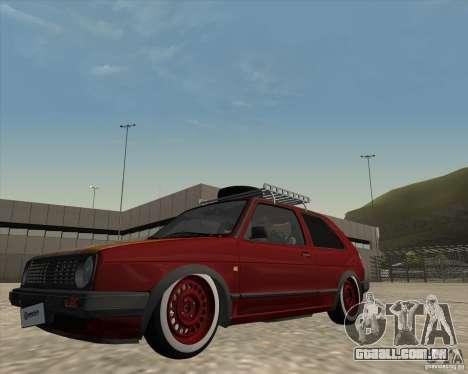 VW Golf II Shadow Crew para GTA San Andreas vista interior