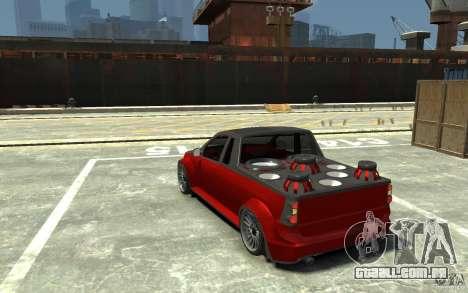 Dacia Pick-up Tuning para GTA 4 traseira esquerda vista
