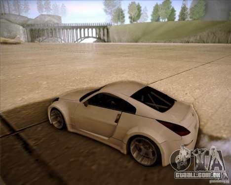 Nissan 350Z AdHoc para GTA San Andreas traseira esquerda vista