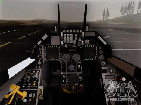 F-16C Warwolf para GTA San Andreas vista superior