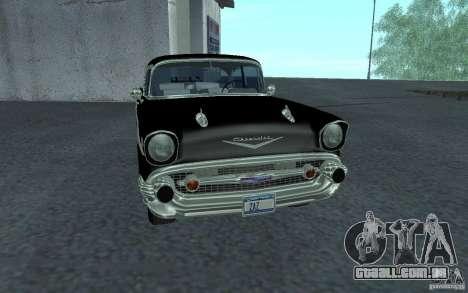 Chevrolet BelAir 4 Door Sedan 1957 para GTA San Andreas esquerda vista
