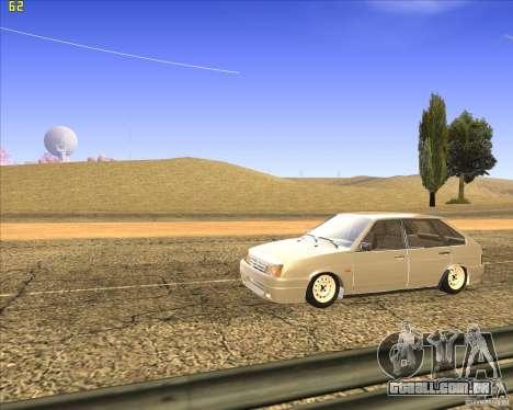 VAZ 2109 Tuning para GTA San Andreas vista interior