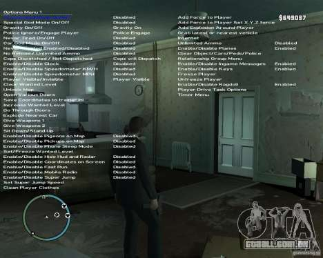 Simple Native Trainer v6.4 para GTA 4 segundo screenshot