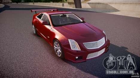 Cadillac CTS-V Coupe para GTA 4 vista interior