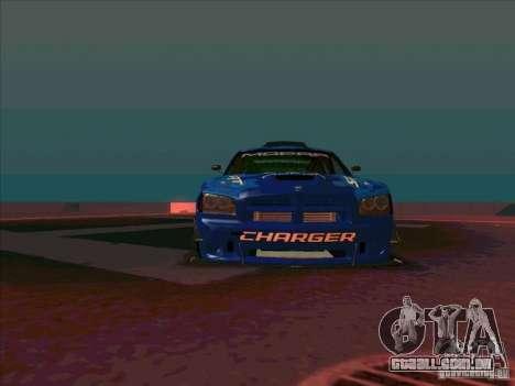 Mopar Dodge Charger para GTA San Andreas vista traseira