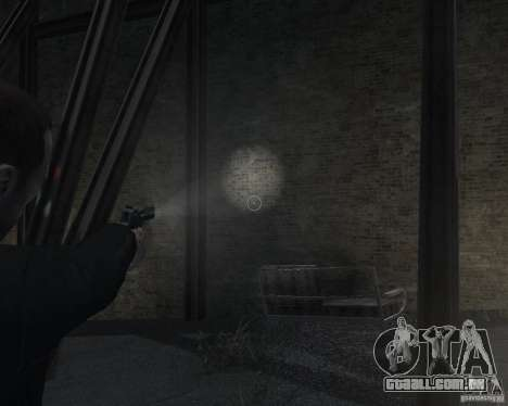 Flashlight for Weapons v 2.0 para GTA 4 sexto tela