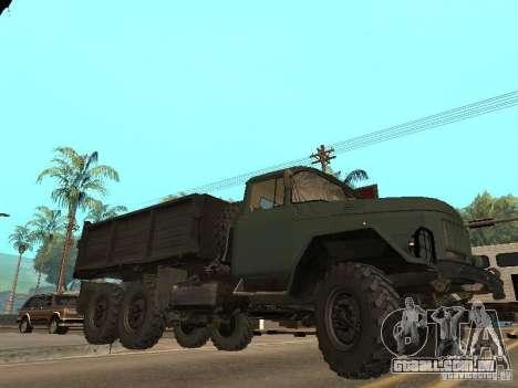 ZIL 131 caminhão para GTA San Andreas vista inferior