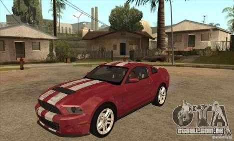 Shelby GT500 2010 para GTA San Andreas
