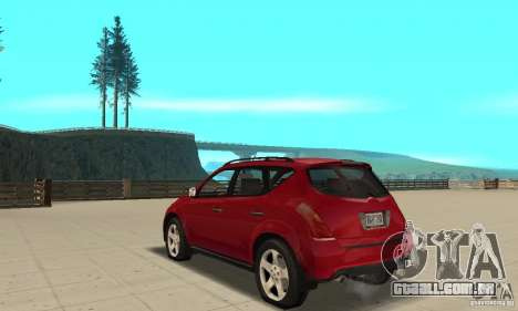 Nissan Murano 2004 para GTA San Andreas traseira esquerda vista