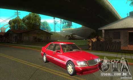 Mercedes-Benz S600 1999 para GTA San Andreas vista interior