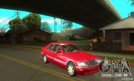 Mercedes-Benz S600 1999 para GTA San Andreas vista interior